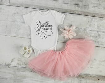 Brand Sparkling New / Baby Girl / Coming Home Outfit / Baby Shower Gift / New Born Girl / Baby Girl Onesie