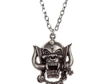 Official Alchemy MOTORHEAD  Warpig Necklace Pendant Metal England Chain