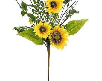 "ESE Sunflower & Blossom Spray Pick, 29""H"