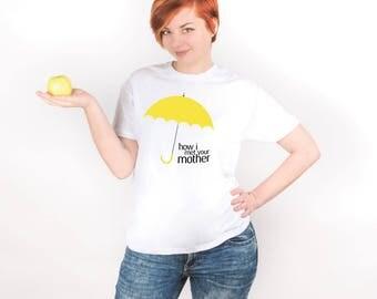HIMYM How I Met Yellow Umbrella Printable Tv Show Movie Shirt Printed Tumblr Graphic Shirt Minimalist Art Print Ted Mosby Barney PA1211
