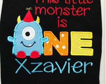 Monster shirt - Little monster shirt - First birthday - This little monster is 1 shirt