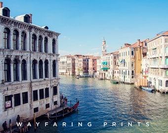 Grand Canal, Venice Italy Print, Large Travel Print, Rialto Bridge, Famous Italy, Anniversary Gift, Italy Photography, Nursery Photo Art