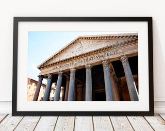 Rome Pantheon Italy Photo, Prints, Gift for Traveler, Photography, European City Print, Landmark, Wall Decor, Large Art, Gift for Her