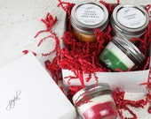Christmas Soy Candle Gift Set,  Handmade Mason Jar Candle, Food Gift, Jar Candles, Homemade Candles, Dessert Scented Candles, Gift Set