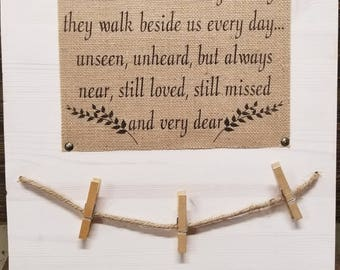 Those We Love Don't Go Away-Memorial Gift-Wedding Decor-Reception Decor-Remembrance Gift