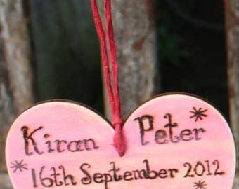 First Date/Wedding etc Heart Plaque
