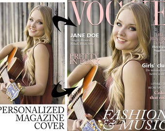 Personalized Vogue Inspired Magazine Covers w/ Your Picture