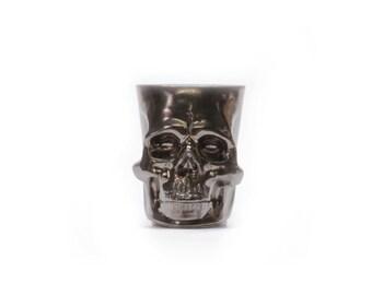 Skull Mug - Ceramic Skull Coffee Mug - Bronze - Antique Gold