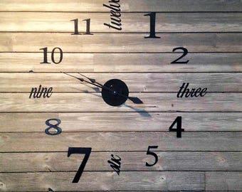 Metal Wall Clock Etsy