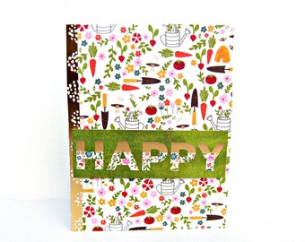 just because card, garden card, garden themed card, homemade card, handmade greeting cards, friendship card, inspirational card, note cards