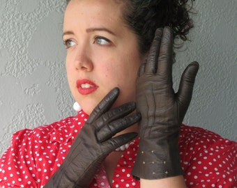 1950's Ladies Leather Gloves