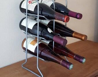 vintage wine rackmetal wine bottle rack6 bottle pewter color countertop wine rack
