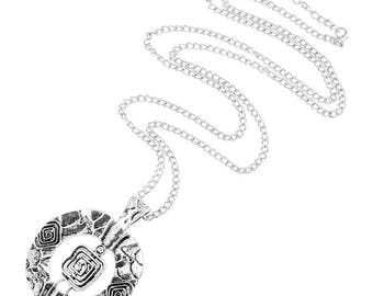 Large Hammered Silver Tone Necklaces