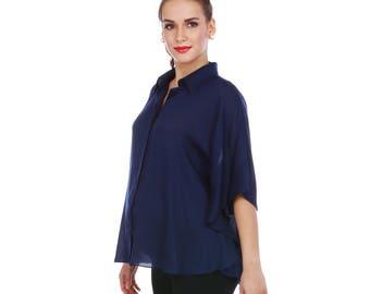 Chic work-wear top: Maternity & Nursing