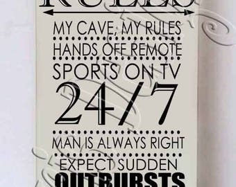 Man Cave Rules SVG PNG JPG