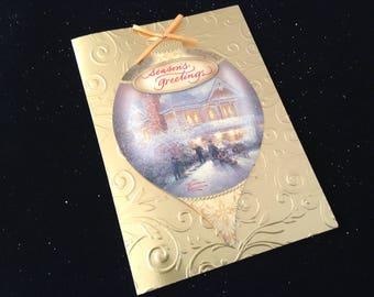 Thomas Kinkade Christmas 1992 Greeting Card