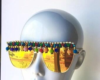 pom pom festival sunglasses