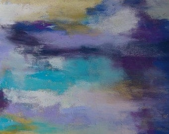 "Original pastel painting abstract ""Beginnings"""