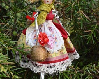Miniature Doll Christmas doll  pendant Girl   Miniatures Collectible Miniature Christmas tree Doll  Miniature Dolls Tiny Doll