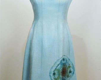Vintage dress 1960's linen Halter