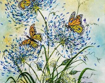 Monarch Butterflies Giclée Print