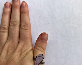 Rustic Amethyst Ring - SIZE 4