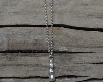 sterling silver rain drops necklace