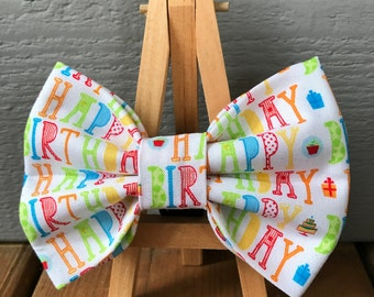NEW! Happy Birthday Dog Bow Tie
