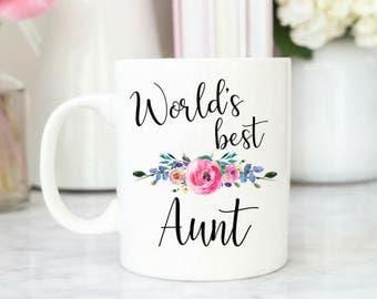 World's Best Aunt Mug / Coffee Mug for Aunt / Mug Gift for Aunt / Best Aunt Mug / Christmas Gift for Aunt / Aunt Gift / Pink
