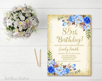85th Birthday Invite Etsy