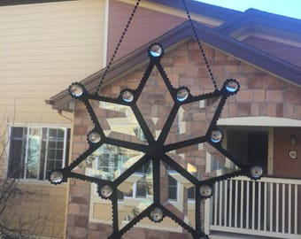Star -- Beveled Glass --Handmade -- Stain Glass  --Window Decoration -- Sun Catcher