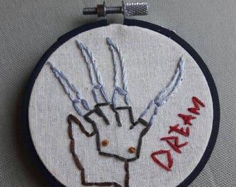 Embroidered Freddy Krueger Hoop
