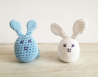 Small rabbit, Easter bunny, Decoration egg, Easter decor, Easter gift, Bunny toy crochet