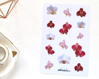 Orchids stickers