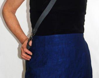 Linen Semi-Fit Wrap Skirt:  LARGE | X-LARGE
