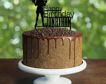 CrossFit Cake Topper, Customizable Birthday Cake Topper- Weight lifting Cake Topper- Silhouette Bodybuilder Cake Topper, Fitness Cake Topper