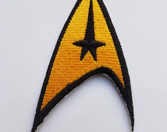 Star Trek The Original Comms Communicator Badge Iron On Patch Transfer