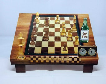 3D Chess Male Birthday Handmade Card - luxury personalised unique quality special bespoke UK - Dad/Son/Uncle/Brother/Nephew/Granddad