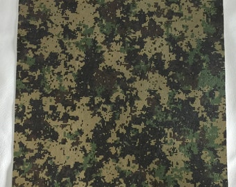 "12""x12"" Digital Camo Printed Leather"