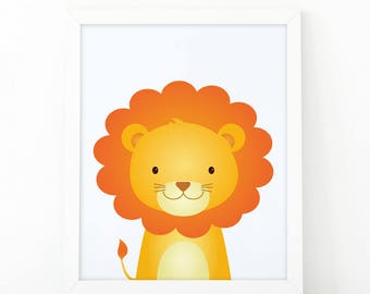 Lion Print, wall Art Print, Instant download, Nursery print, Kids Print, Safari Nursery Decor, Jungle printable, Animal Nursery Printable