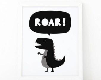 Roar Dinosaur, kids nursery print, Dinosaur Printable, kids wall art, Children decor playroom, Dinosaurs Wall Art, dinosaur nursery print