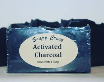 Activated Charcoal Soap, All Natural Soap, Handmade Soap, Tea Tree Essential Oil, Vegan Soap, Homemade Soap, Bar Soap, Soaps, Charcoal Soap