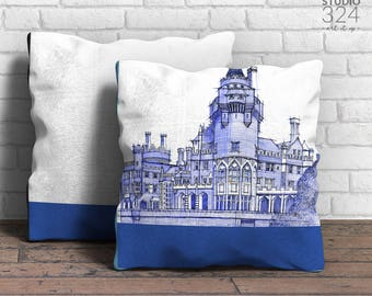Casa Loma Square Pillow | Blue Prints