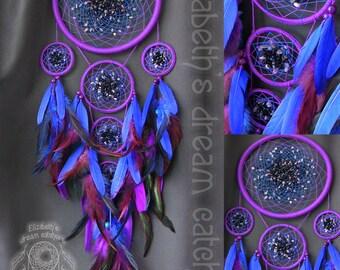 dream catcher dreamcatcher blue dreamcatcher purple dreamcatcher Feather Decor Indian Big Dreamcatcher gift dreamcatcher wall hanging
