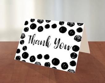 Polka Dot Thank You Card, Thank You Card, Printable Thank You Card, Digital Thank You Card, Instant Download, Printable Greeting Cards
