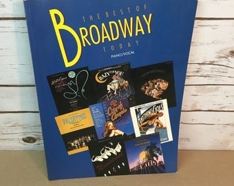 The Best Of Broadway Today Sheet Music Book Vintage 1992 Piano/Vocal