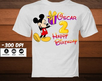 DIY Mickey Mouse Birthday Boy Shirt Digital Iron On Transfer Party Decoration T DIGITAL IMAGE