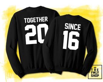 Together Since Couple Sweatshirts, Couple Sweaters, Couple Shirts, Together Since Cutom Date Sweatshirts, Cutom Shirts, Couple Gift