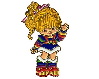 Rainbow Brite Enamel Pin - Lapel Pin - Hat Pin - Soft Enamel Pin - 80s Nostalgia Pin - 1980s Toys - 80s Cartoon - Brooch -  Retro Pin