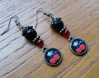 Black and Red Cherries